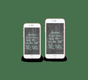 mockups of Beatitudes download in iphone6