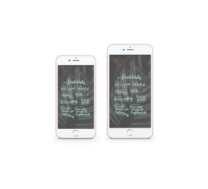 mockups of Beatitudes download in iphone6