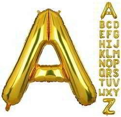 40 Inch Gold Letter Balloon