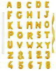 Rose&Wood 16 Inch Gold Letter Balloons
