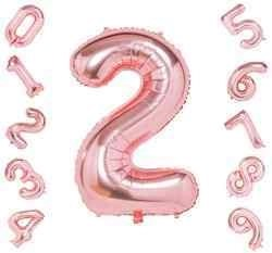 40 inch Rose Gold Number Balloons