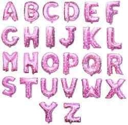 16 Inch Pink Letter Balloons