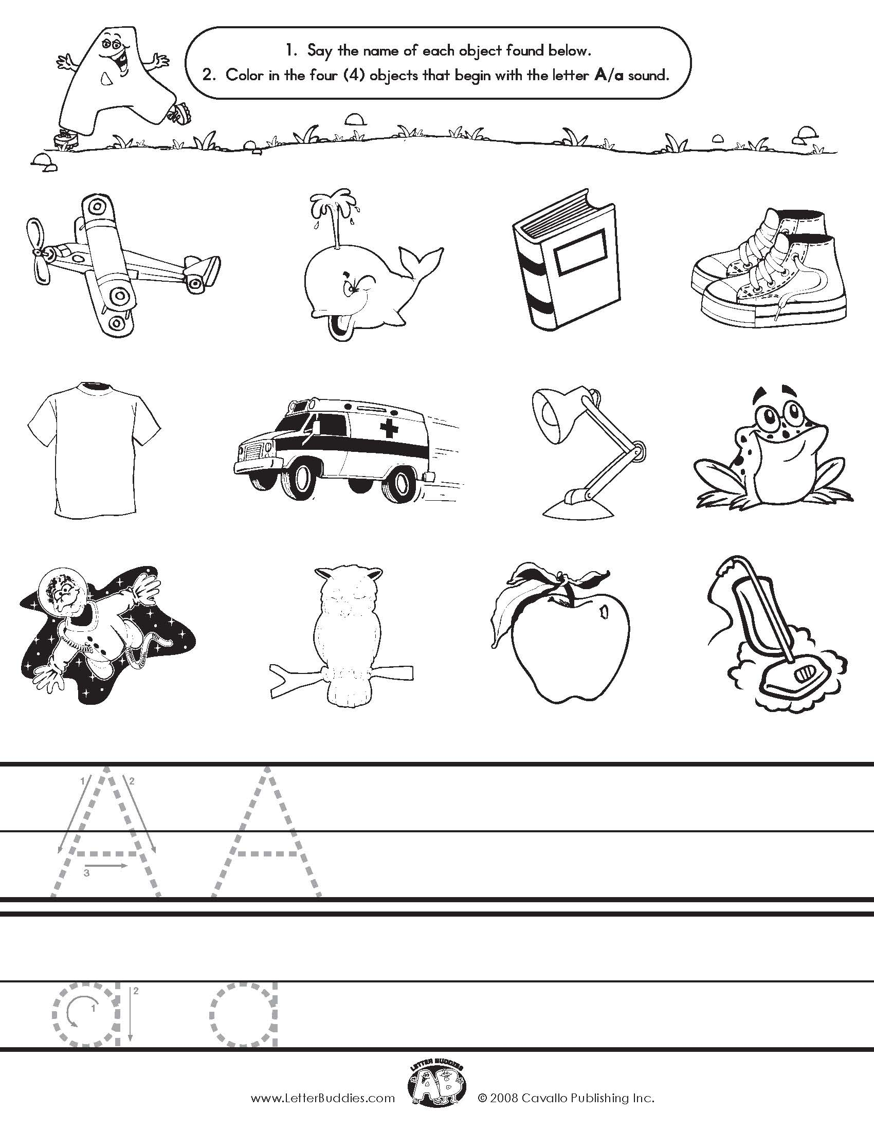 Letter A Sound Worksheets