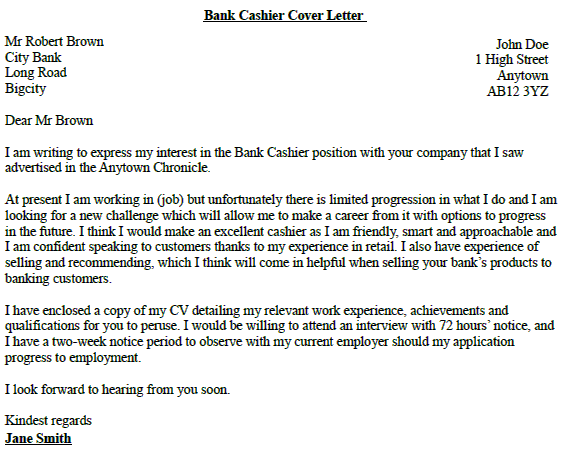 customer service associate cover letter