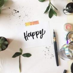 """""""happy"""" hand-lettering by martina johanna"""