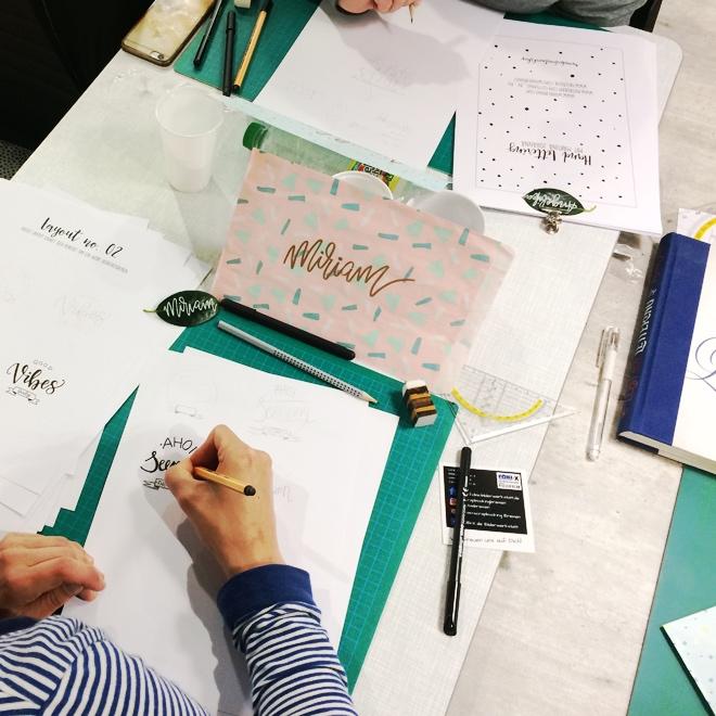 Handlettering Workshop mit Martina Johanna bei Fobi-x Bremen