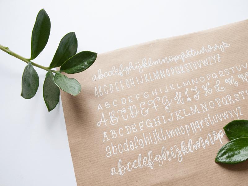 Hand Lettering Workshop Briefumschläge schön gestalten - Beispiel