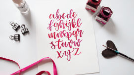 Brush Lettering Aquarell Workshop