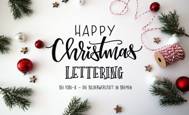 Lettering by Martina Johanna - Happy Christmas Lettering Workshop Das Titelbild