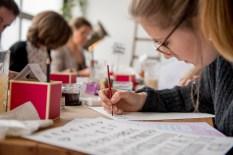 Watercolor Lettering Workshop in Hamburg - presented by Nadja Dünnwald Events