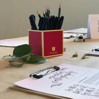 Handout Brushlettering Workshop besondersmarkt Hamburg, Martina Johanna. Lettering Blogger Event