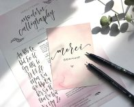 """Lettering """"Merci"""" Brushlettering Modern Calligraphy"""