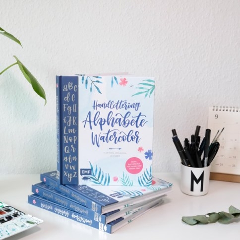 "Mein Buch ""Handlettering Alphabete Watercolor"" - Das Lettering Buch by Martina Johanna, Lettering by mj"