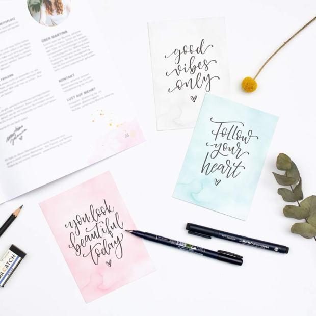 Workbook - Brush Lettering Workshop für zuhause
