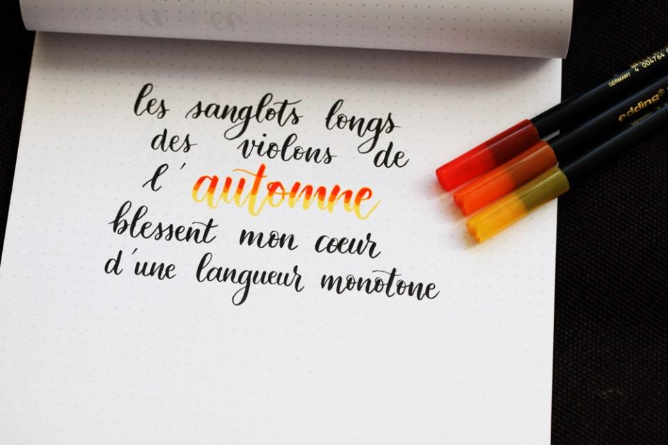 Feutre A Coloriage En Anglais.Degrades Au Feutre Defi 4 52 Lettering Creatif