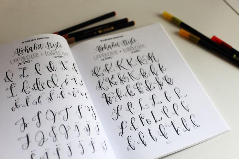 alphabet brush lettering