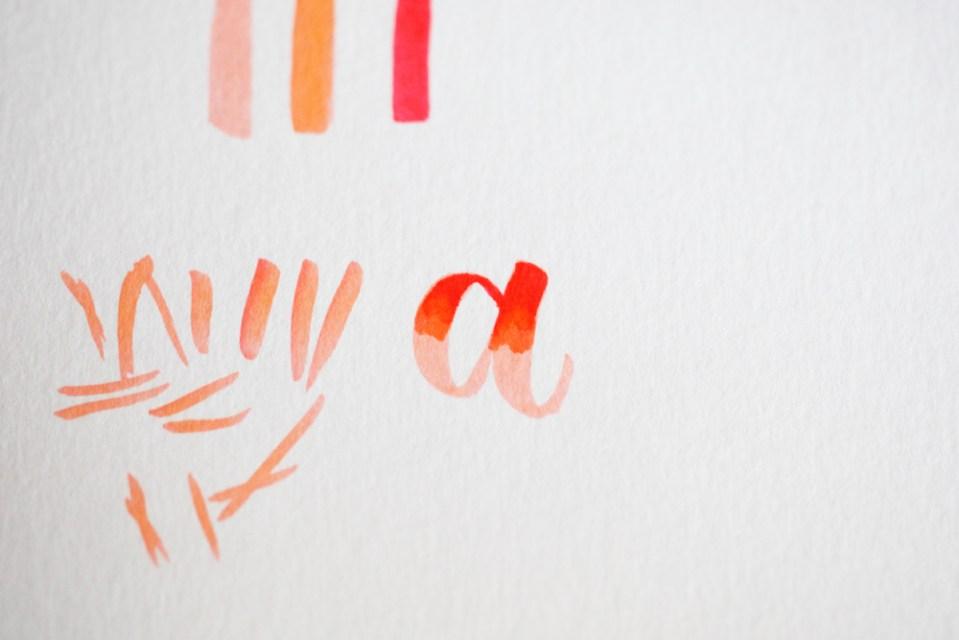"""pas à pas de blending sur la lettre """"a"""" (3/4)"""