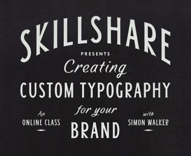 skillshare simon walker lettering tutorial