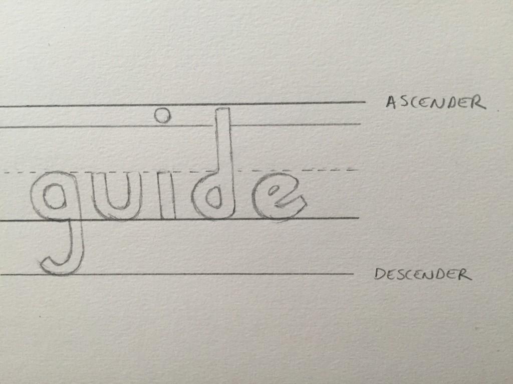 Hand Lettering Guide Ascender