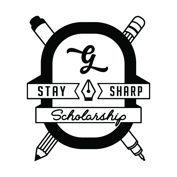 Stay Sharp Scholarship Logo Goodtype - Lettering Tutorial