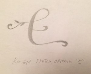 Ornate E Sketch - Lettering Tutorial