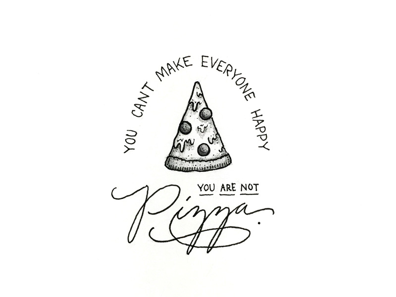 You Are Not Pizza - Lettering Tutorial
