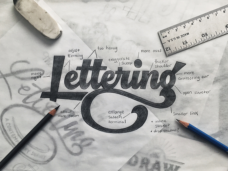 Lettering Sketch Colin Tierney - Lettering tutorial