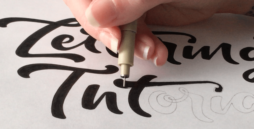 Pen Tip - Lettering Tutorial