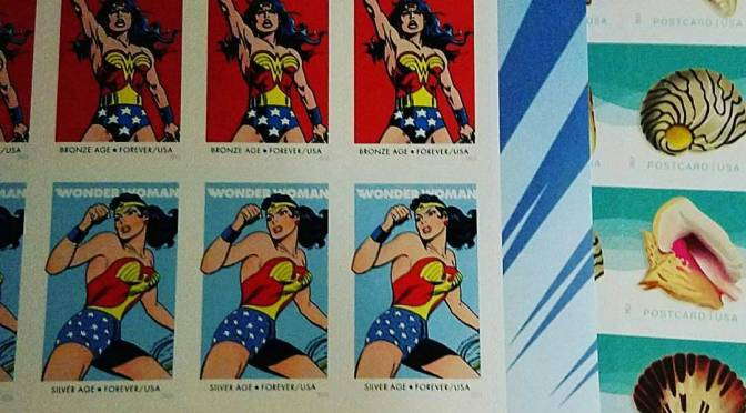 wonder woman stamps from an Instagram post by @kcharleton1109