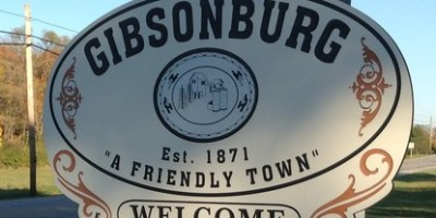 """Gibsonburg Sign est 1871 """"A friendly town"""" Welcome"""