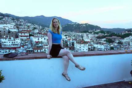 Me with the view of Taxco