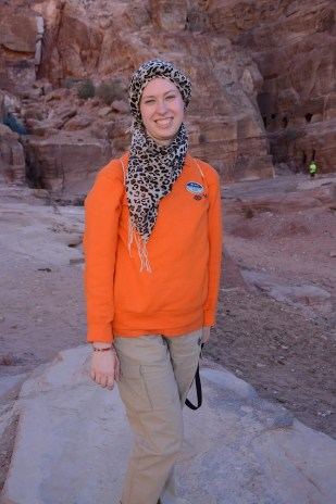 In Petra, during the crossing