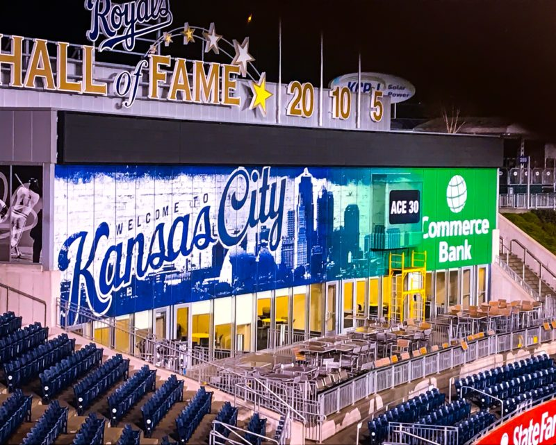 Full Coverage Wall Wrap at Kauffman Stadium
