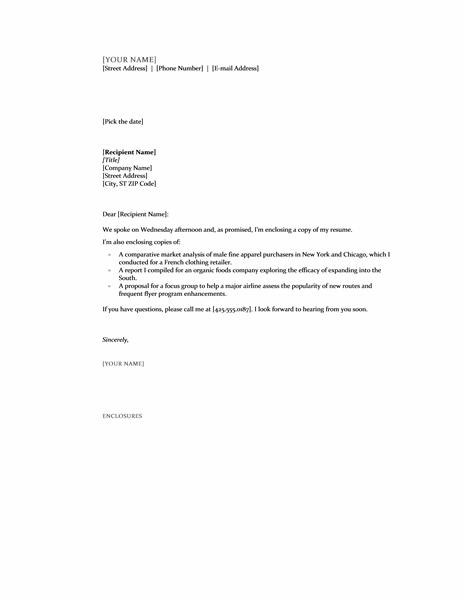 Enclosure Cover Letter | Resume Format Download Pdf