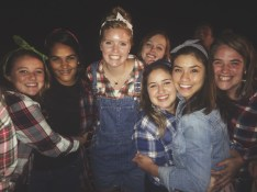 Who would have ever thought Nishi would wear a flannel and pretend to be country! haha...