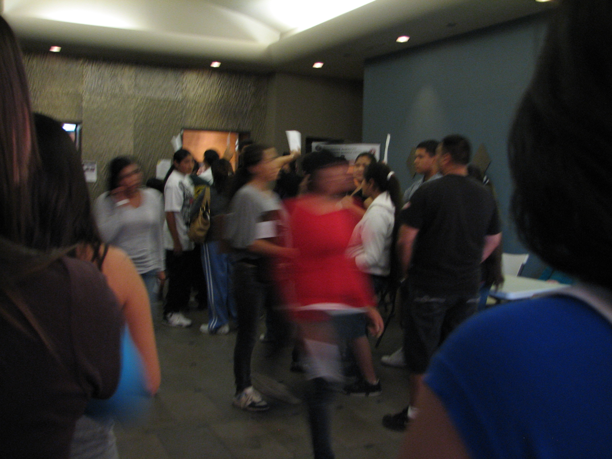 Shot of the lobby I was able to get when the crowd momentarily parted.