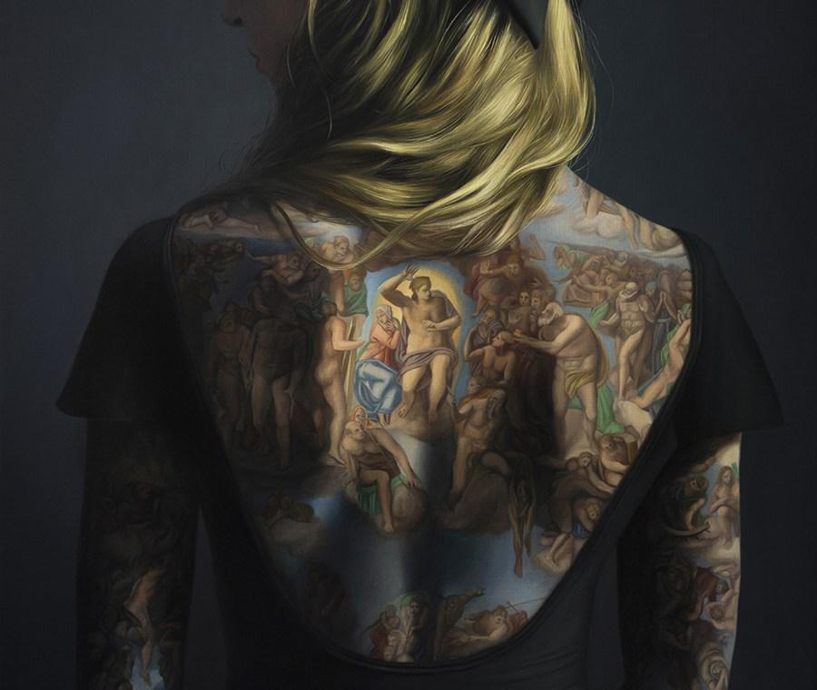 La peinture a même la peau par Agnieszka Nienartowicz
