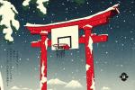 Le Japon féodal et le basket-ball réunis dans les oeuvres de Andrew Archer