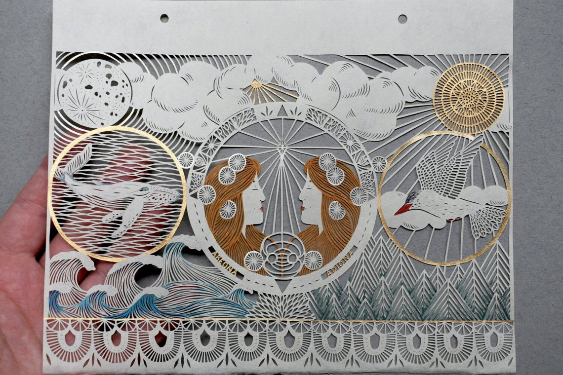L'incroyable Paper Art de Pippa Dyrlaga