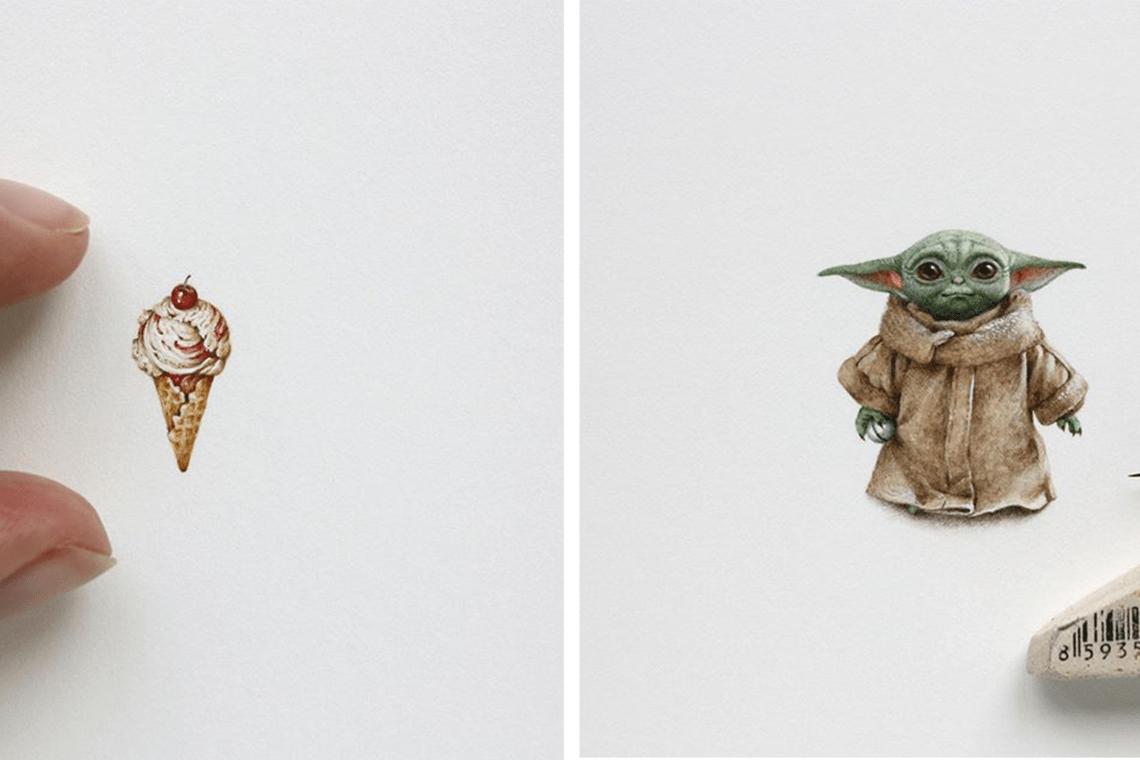 Les peintures miniatures de Julia Las