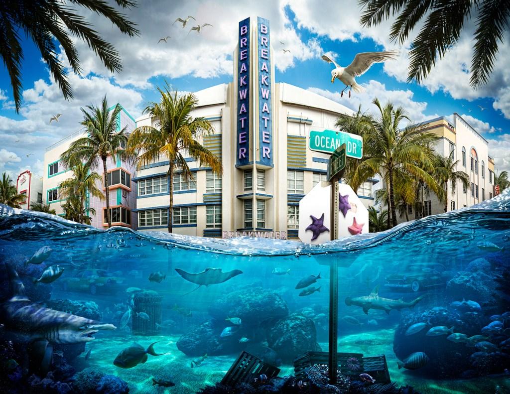 Floating World, un projet en cours explorant les impacts du changement climatique sur la planète et les problèmes de l'élévation du niveau de la mer dans les villes côtières du monde entier. Nick Pedersen