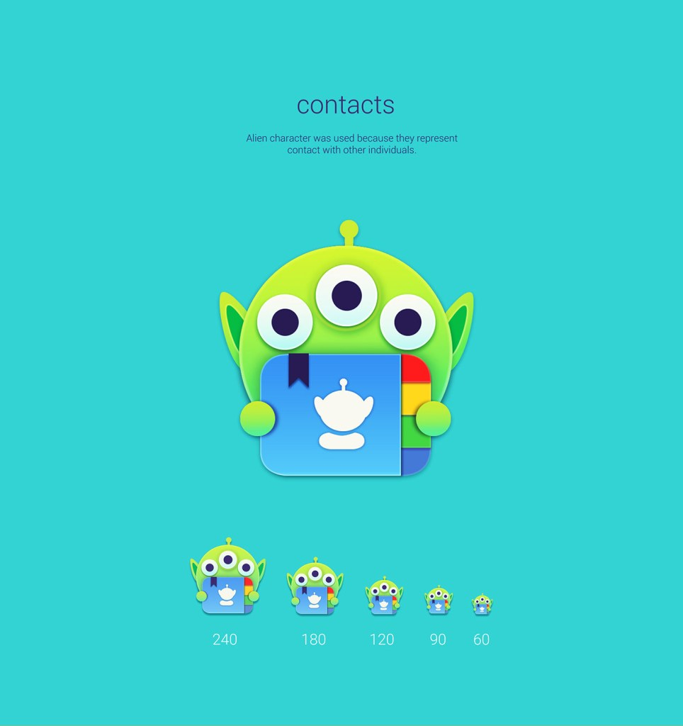 contacts Toy Story