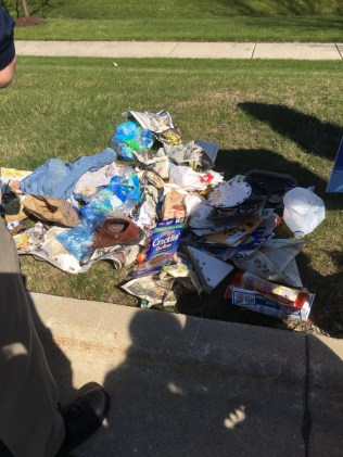 A pile of garbage provided a powerful visual, thinking that children regularly search through piles like this to try to find something to eat
