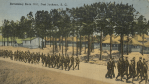 Returning from drill, Fort Jackson