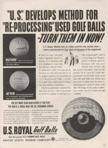US Royal Golf Balls Ad 1942