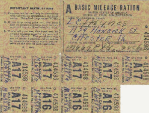 Gas Stamps, WWII