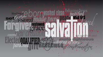 Salvation Christian word montage