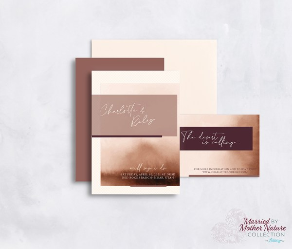 Romantic and etheral desert wedding invitation