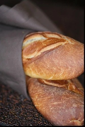 Rustic Baguette Recipe - crispy on the inside, with a chewy crumb and large holes this recipe is sure a keeper!