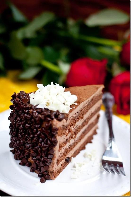 "Cake ""Prague"" - Chocolate cake filled with Chocolate Custard Buttercream."